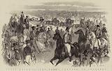 Ascot Races, 1847, the Royal Cortege on Thursday