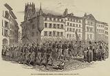 The War in Switzerland, the Federal Troops entering Fribourg