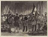 Hungarian Hussars, sketched at Folkestone