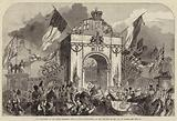 The Procession at the Grand Triumphal Arch in Upper Baggot-Street, at the Entrance of the City of Dublin