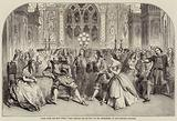 """Scene from the New Opera """"King Charles the Second,"""" by Mr Macfarren, at the Princess' Theatre"""