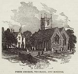 Prees Church, Vicarage, and Schools