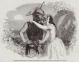 """Midsummer Night's Dream,"" at Sadler's Wells Theatre, Mr Phelps as ""Bottom,"" and Miss Wyatt as ""Titania"""