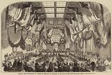 Banquet and Presentation of a Sword to the Earl of Cardigan, in the Hall of the Stock Exchange, Leeds