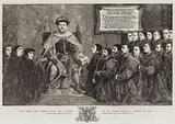 King Henry the Eighth giving the Charter to the Barber-Surgeons' Company, in 1541