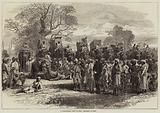 A Tiger-Hunting Party in India, preparing to Start