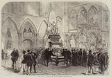 The Grave of Charles Dickens in Poets' Corner, Westminster Abbey