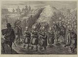The Evacuation of Zululand, the 21st Royal Scots Fusiliers on the March homewards