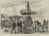 The War in South America, mounting Heavy Guns at Valparaiso