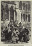 Life in Constantinople, Moslems leaving the Mosque