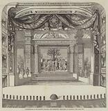 Re-Decoration of Her Majesty's Theatre, the Proscenium, Drop-Scene, by Stanfield