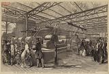 The Machinery Department of the Crystal Palace, Messers Hibbert, Platt and Company's Cotton-Machines