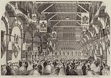 The Oxford Commemoration Ball, given to the Prince and Princess of Wales in the New Corn Exchange …
