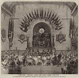The Guards' Ball in the International Exhibition Building, the Royal Party in the Supper-Room