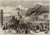 The Riots in New York, the Mob burning the Provost Marshal's Office