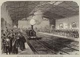 Opening of the Falmouth and Truro Railway, Arrival of the First Train at Falmouth Station