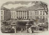 The House of Representatives, Brussels, King Leopold proceeding to open the Session of 1863-4