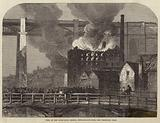 Fire at the High-Level Bridge, Newcastle-on-Tyne