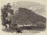 The Saxon Fortress of Konigstein, on the Elbe, near Dresden