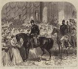 Prussian Festival of Victory at Berlin, Young Ladies presenting Wreaths to the King