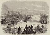 The Wimbledon Rifle Meeting, the Sham Fight, Charge of Hussars and Lancers