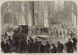 Funeral of Mr Peabody in Westminster Abbey