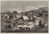 Fall of Metz, Huts of French Camp at Bon St Martin