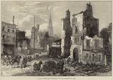 The Ruin around Paris, the Town of St Cloud destroyed by Fire