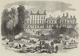 The French Siege of Paris, Troops encamped at the Palace of St Cloud