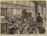 The London Mission, the Bishop of London preaching to the Soldiers at the Wellington Barracks