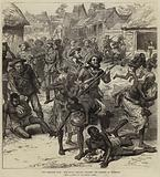 The Ashantee War, the Naval Brigade clearing the Streets of Coomassie