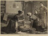 Women grinding Corn in Ireland