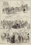 Sketches of the Royal Procession at the Opening of Parliament