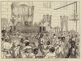 The Recent Election Troubles in South Carolina, Scene in the House of Representatives at Columbia