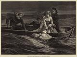 """Scene from """"The Scuttled Ship,"""" at the Olympic Theatre"""