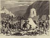 The Afghan War, Native Camp Followers looting the Afghan Camp at Fort Ali Musjid