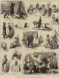 The Afghan War, Sketches in Camp by Lieutenant Pulley, 3rd Goorkhas
