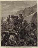 The Afghan War, Attack on a Baggage Train near Koruh, by Marauders of the Mangal Tribe