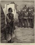 The Afghan War, Execution of a Ghazi, or Mohammedan Fanatic, at the Peshawur Gate, Jellalabad