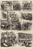 The Zulu War, Sketches at the Victoria Docks on the Departure of the 17th Lancers