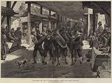 The Afghan War, the 4th Goorkhas marching through the Bazaar, Jellalabad