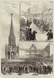 Jubilee Festival of Belgian National Independence, Inauguration of the Monument of Leopold I at Laeken, Brussels