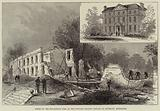 Scene of the Disastrous Fire at the Private Lunatic Asylum at Southall, Middlesex