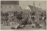 The Riots in Croatia, Hussars dispersing Rioters at Agram