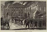 Burning of the House of Representatives at Brussels