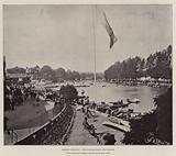Henley Regatta, the Course from the Bridge