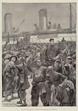 The War in Eastern Asia, Chinese Levies embarking on a Transport