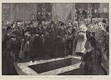 Funeral of the Late Emperor of Russia in the Cathedral of St Peter and St Paul in the Fortress …