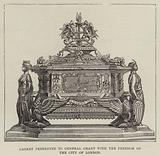 Casket presented to General Grant with the Freedom of the City of London