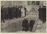 Funeral of Lord Beaconsfield at Hughenden Church, High Wycombe